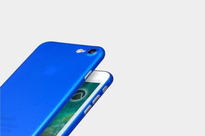 coque slim bleue pour iphone 8