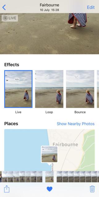 les effets pour optimiser des photo iphone x