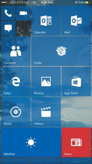 RedStone Windows 10 Theme for iOS