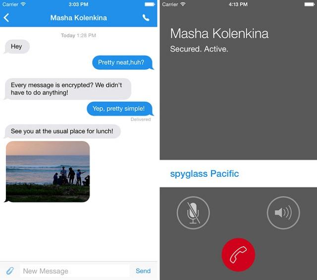 Signals app messages