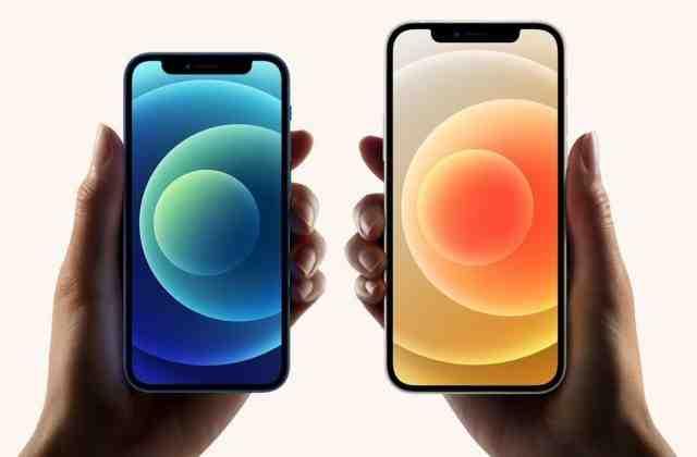 Comparaison de la taille de l'iphone 11 pro max et de l'iphone 12