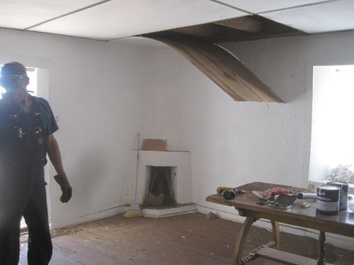 removing the false ceiling