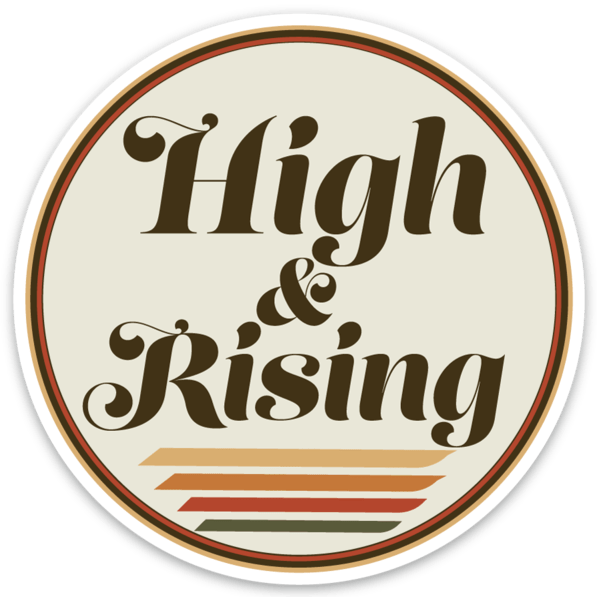 High & Rising Logo Sticker