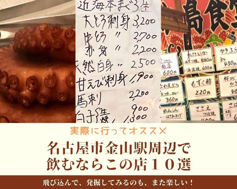 実際に行ってオススメな名古屋市金山駅周辺で飲むならこの店10選