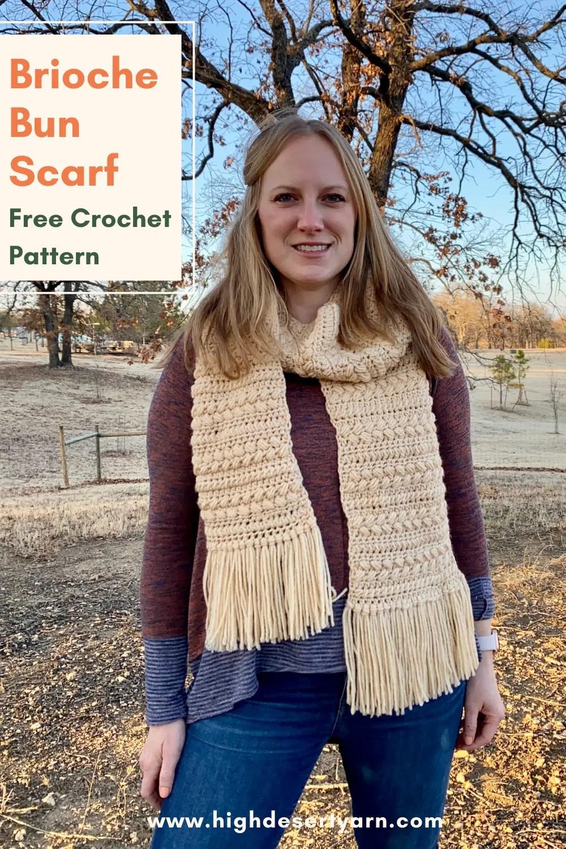 pinterest brioche bun crochet scarf