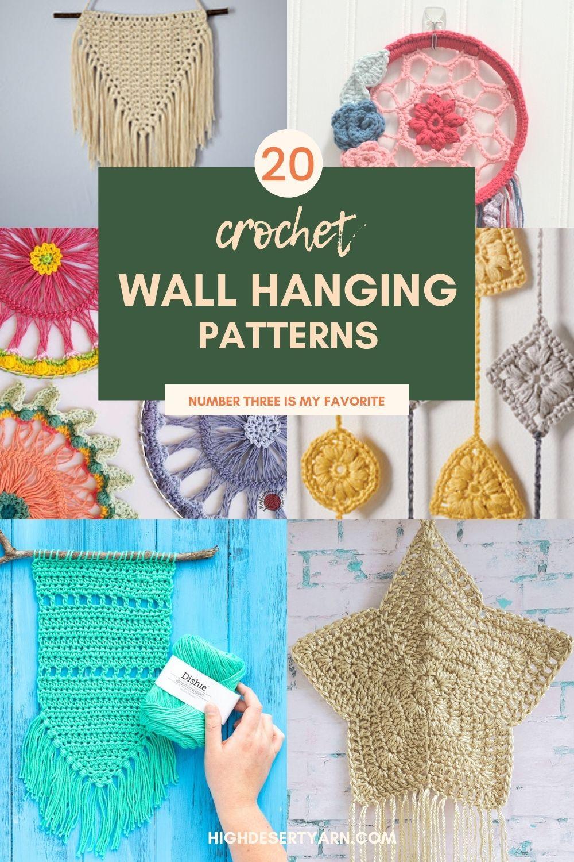 20 crochet wall hangings
