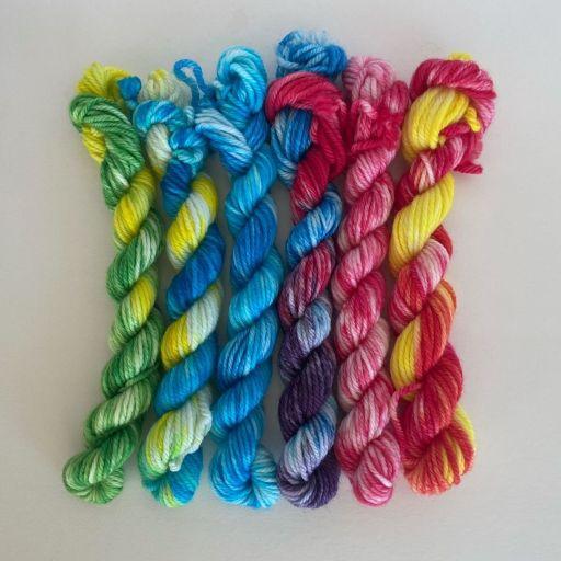 high desert yarn hand dyed yarn kalena crochet wall hanging
