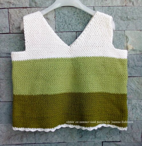 sippin on summer crochet top high desert yarn