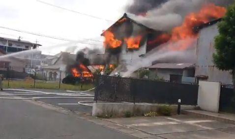 静岡県浜松市中区天神町 火事 火災