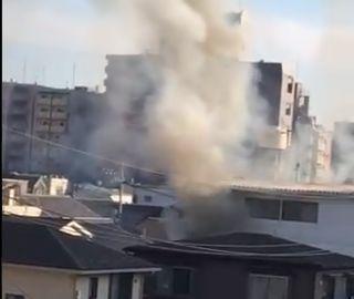 広島県広島市南区宇品御幸5丁目 火事 火災