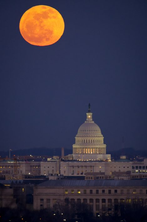 Blood Moon over Washington, D.C.
