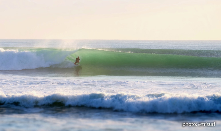 Winter Storm Riley - South Florida surfer in the green room