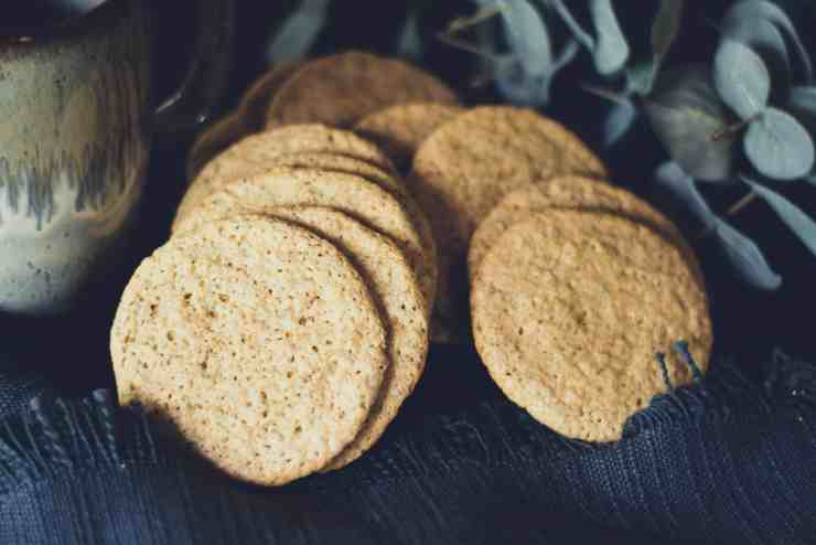 image of lemon poppy oat cookies and tea