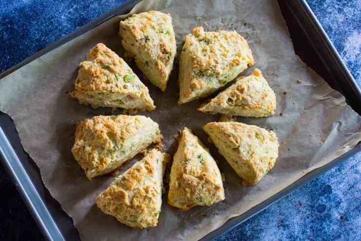 image of cheddar scallion savory scones