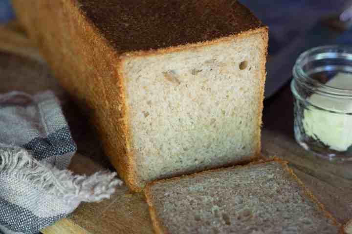 image of honey oat sourdough loaf
