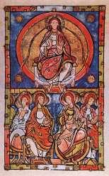 Pentecost, Limoges Sacramentary, c. 1100, Paris Bibliothèque Nationale Ms Lat 9438
