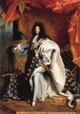 Hyacinthe Rigaud, Louis XIV in Coronation Robes, 1701, Paris, Louvre.