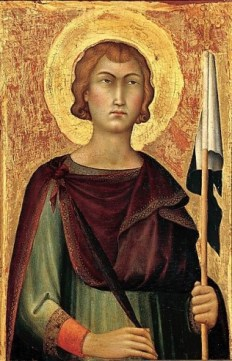 Simone Martini, San Ansano, c. 1330, New York, Metropolitan Museum of Art