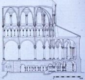 Choir Elevation including crypt, Saint-Denis