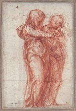 Jacopo Pontormo, Two Standing Women, after 1530, Munich, Staaliche Graphische Sammlung.
