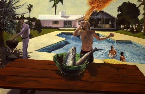 Eric Fischl, Barbecue, 1982, Collection of Steve Martin