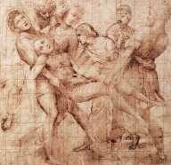 Raphael, Entombment, 1507, Florence, Uffizi.