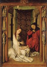 Workshop of Rogier van der Weyden, Nativity, c. 1445, Granada, Capilla Real.
