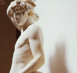 27 Mar 1965 --- Detail of Hadrianic Statue of Antinous as Apollo and Liber Pater --- Image by © Roger Wood/CORBIS