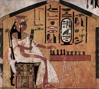 An Egyptian playing Senet