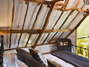 Higher Patchole Holiday Cottages - Threshing Barn bedroom 1