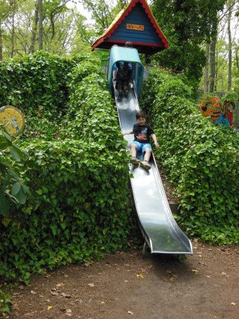 Sliding down Jack and Jill's hill!