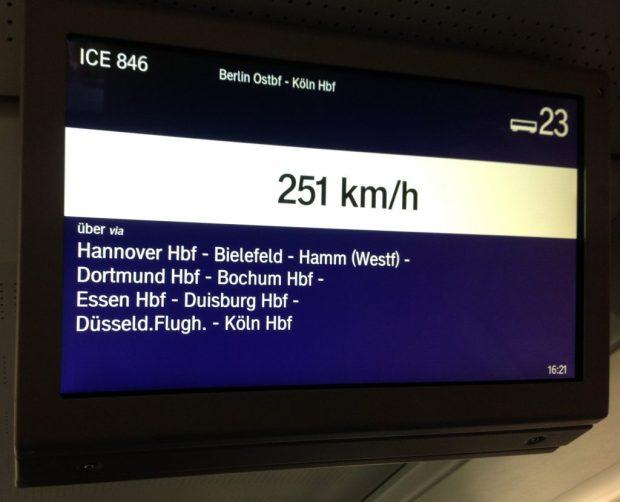Travel - Germany bullet train