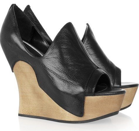wedge heeled mules