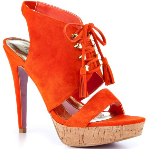 orange suede heels from Paris Hilton