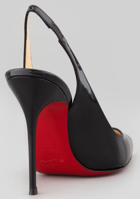 red soled slingbacks