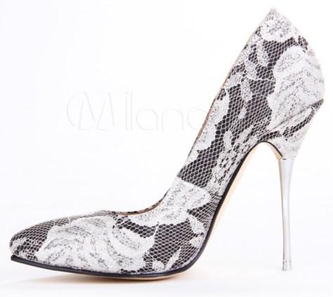 Metal heel pumps