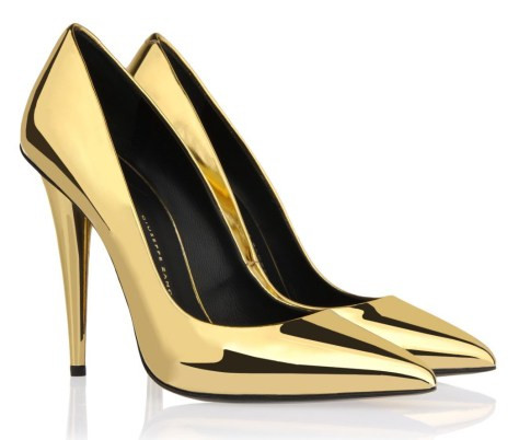 Zanotti gold pumps