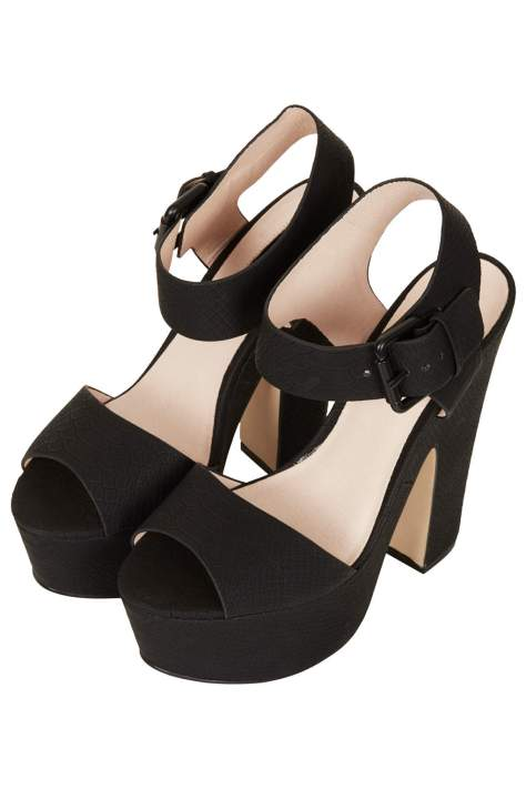 Black TopShop Wedges