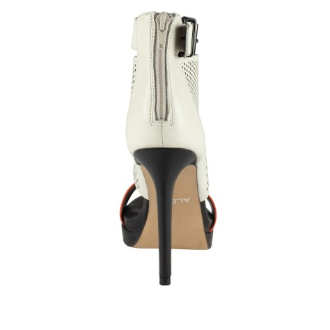 Caged High Heel Sandals White and Black