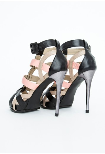 Contrast High Heel Sandals