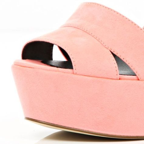 High Heel River Island Wedge Peep Toes