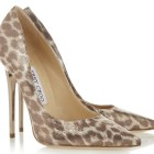 Jimmy Choo leopard print shoes
