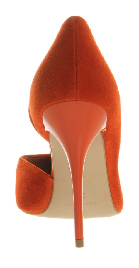 Orange Stiletto Heels