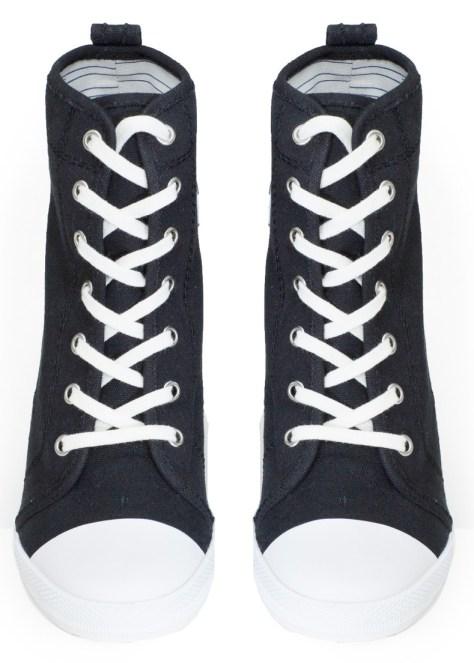 sneaker look high heels