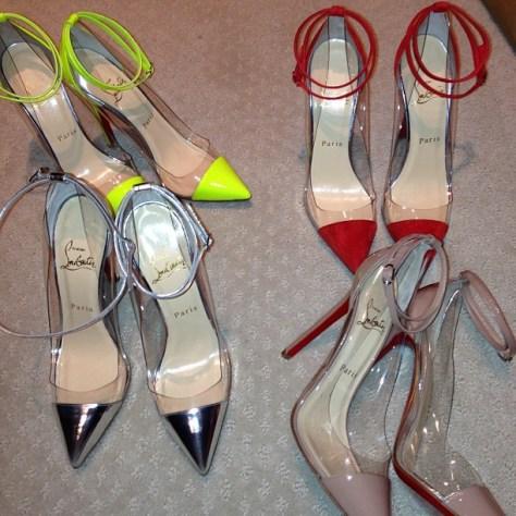 Kim Kardashian clear heels