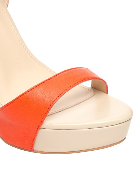 Orange and Cream Stilettos