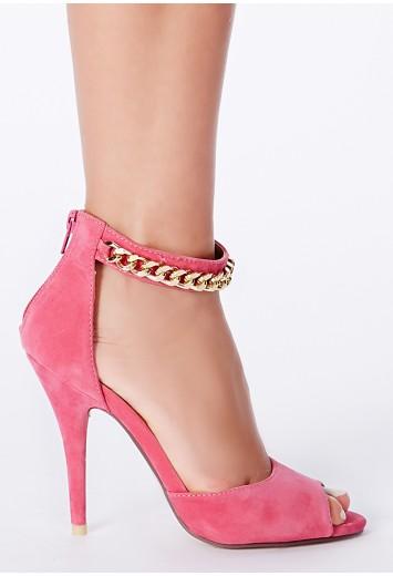 Pink High Heel Sandals