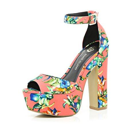 Floral Peep Toe Platforms
