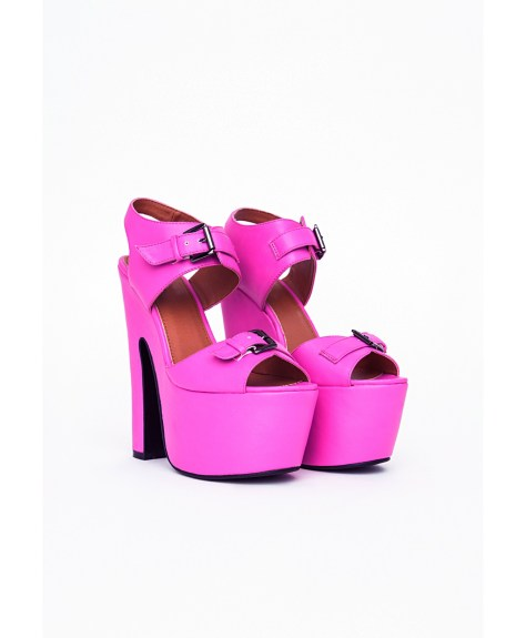 Hot Pink High Heel Platforms