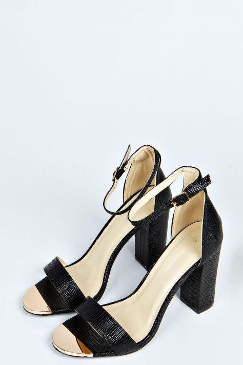 Mock Croc High Heel Sandals